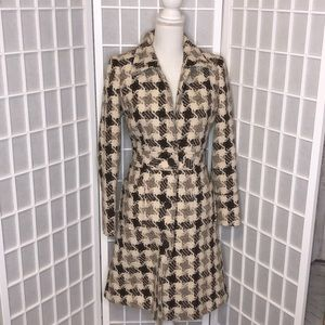 Luxe Arden B wool jacket trench size XS